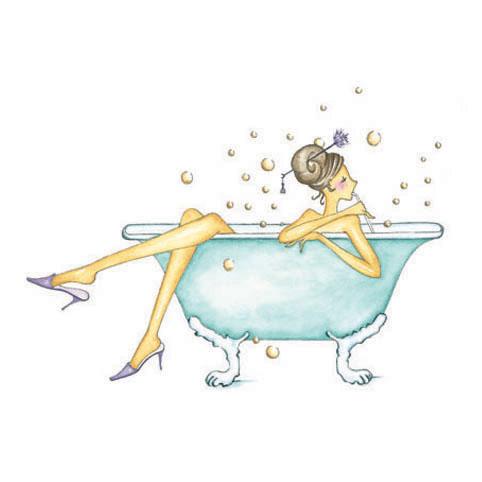 Le bain Reproduction sur bois
