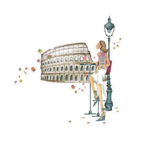 Un petit verre d'Asti à Rome Reproduction sur bois