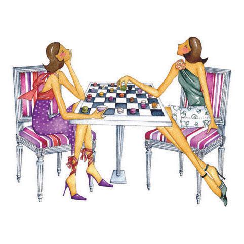 Le jeu des Dames Reproduction sur bois